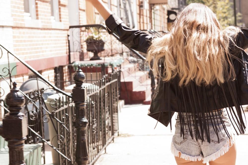 Leather Jacket, Denim Shorts  Missguided