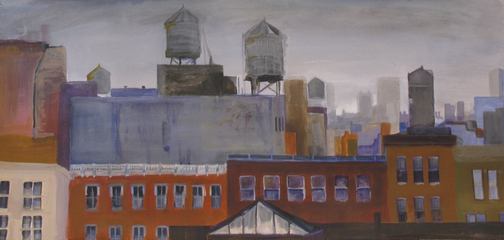 "Soho Roofs (sold)  14"" X 30"""