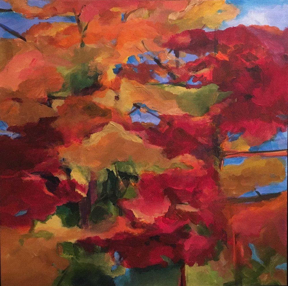 """ Autumnal Equinox"" acrylic on canvas 20"" x 20"""