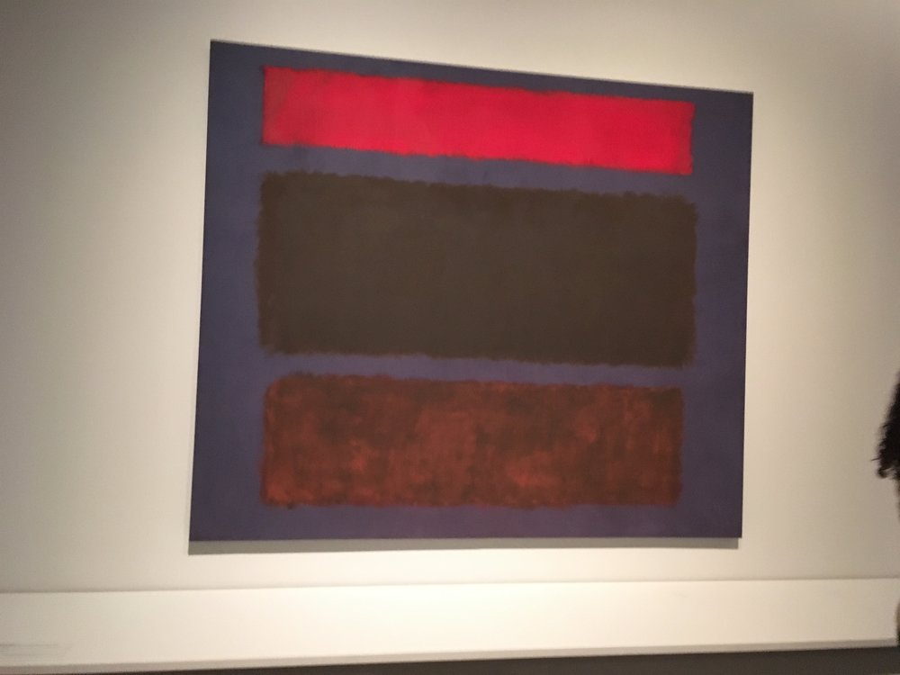 "No 16 Mark Rothko 1960 102"" x 119 1/2"" oil on canvas"