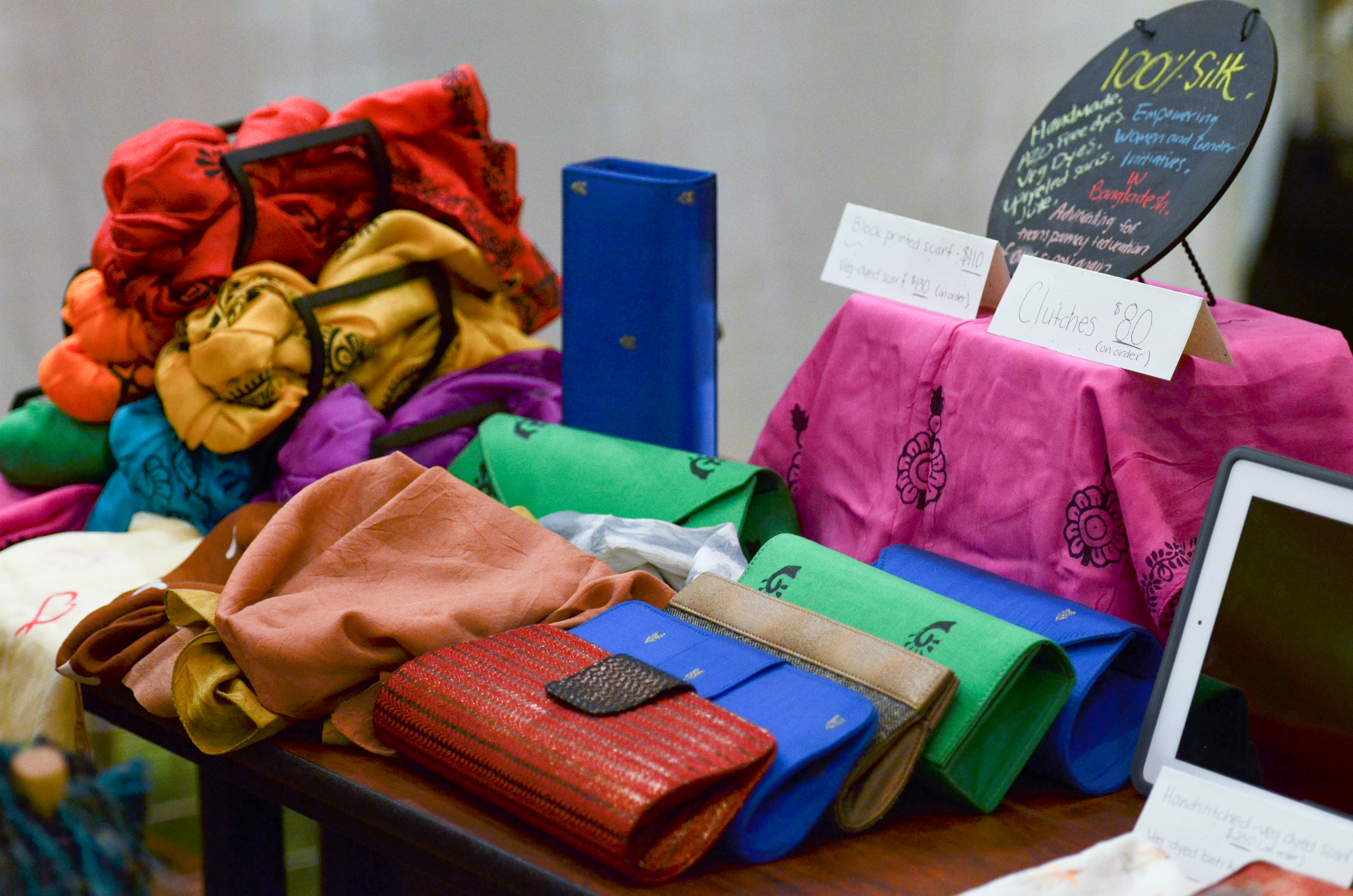 Evolvemint booth during Redress Eco-Fashion and Textiles Conference Marketplace