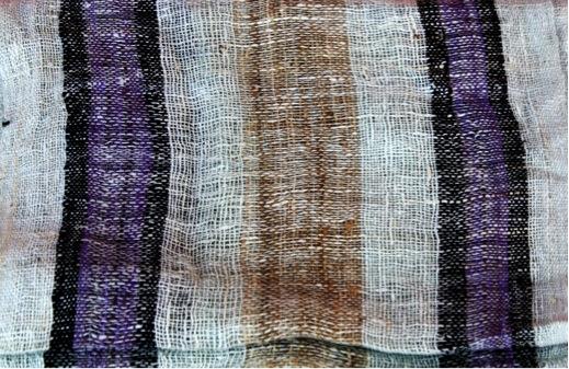 Close up of raw silk lamba made in Madagascar, available at Beleza  Photo credit: Kim Ring