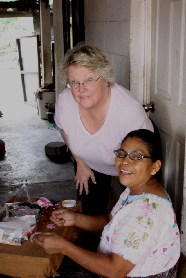Sara Dail visiting with Women of Hope  Photo credit: Philip Dail