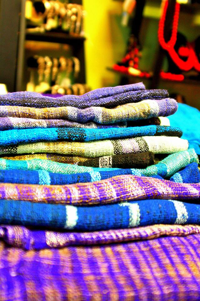 Raw silk lambas made in Madagascar, available at Beleza  Photo credit: Beleza Fair Trade Boutique