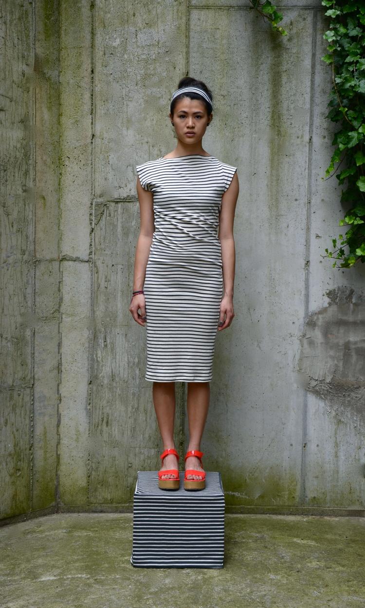 Study NY Stripe Twist Dress - via Study NY website