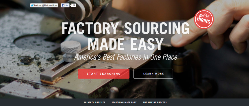 Maker's Row - image of website