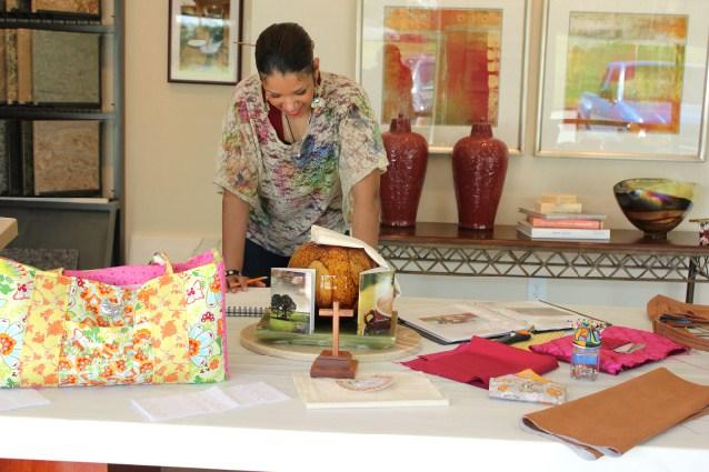 Linda Mendible working in her Natural True Beauty studio