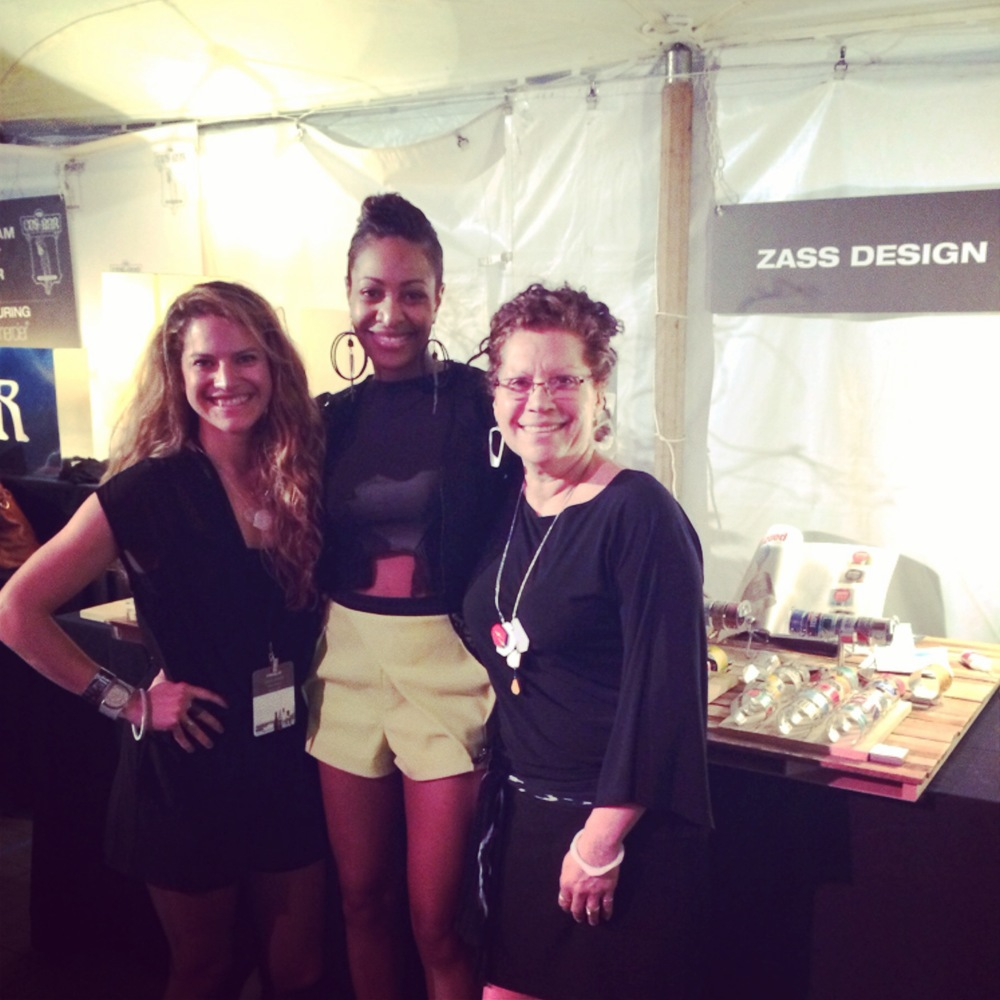 Stephanie and Zulay Smieth of zassdesign with emerging designer Terese Sydonna. Photo provided by zassdesign.