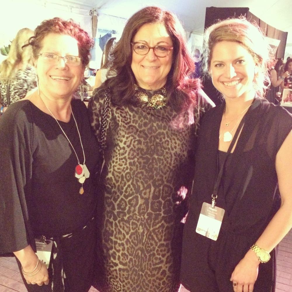 Zulay and Stephanie Smith of zassdesign withFern Mallis, Founder of NYC Fashion Week.