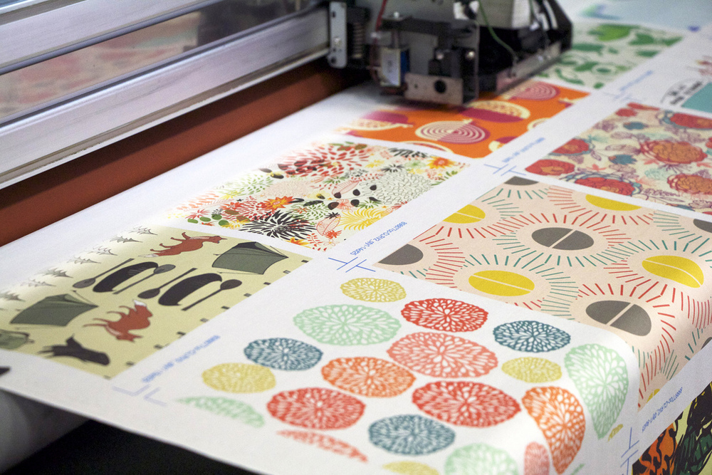 Large format fabric printer in action. Photo provided by Spoonflower