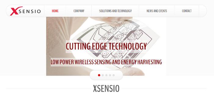 Screenshot of Xsensio website.