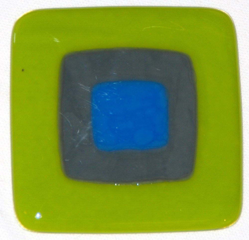 Craftsman tile in spring green, gray, and sky blue