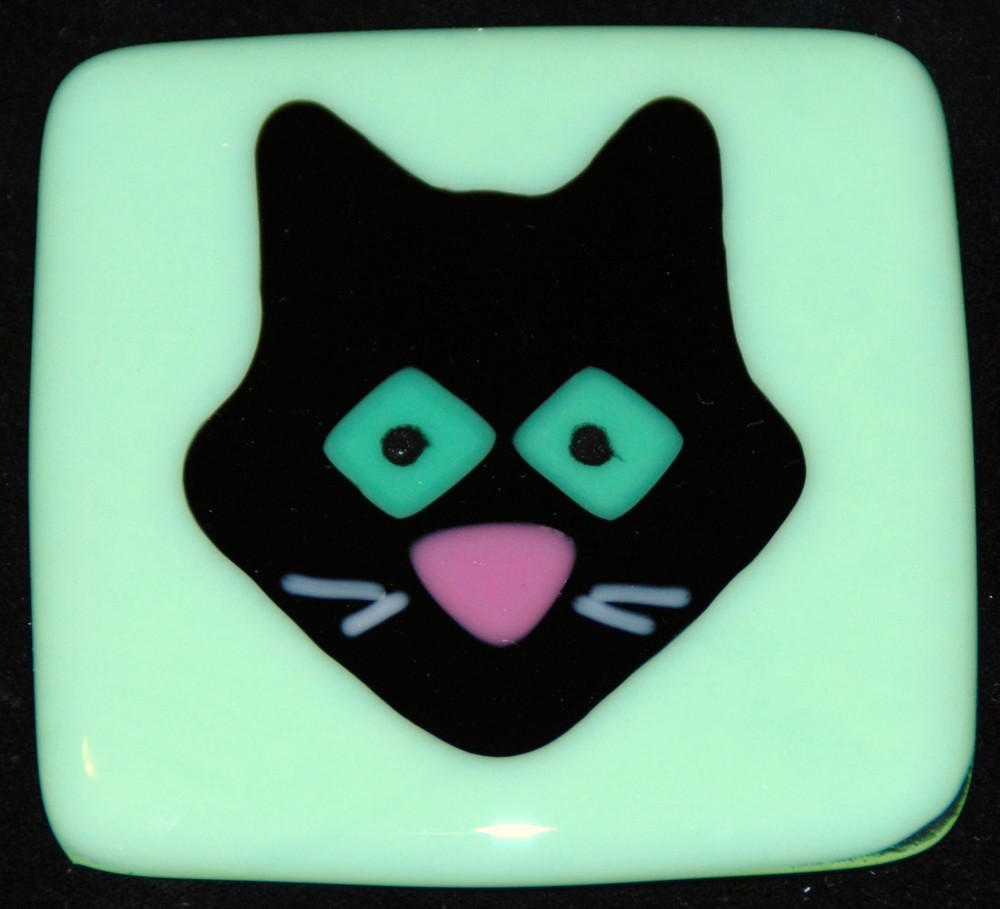 black cat on mint green glass.JPG
