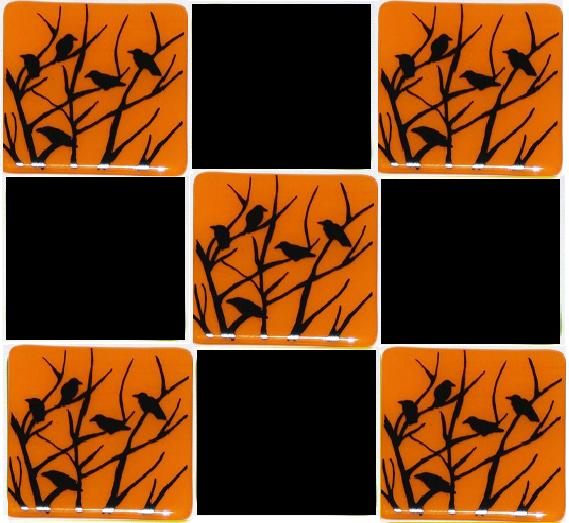 murder of crows on orange tiles.jpg