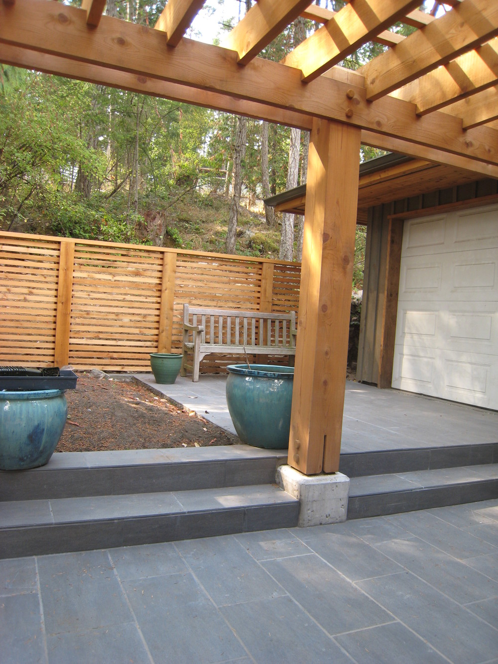 Patio with privacy