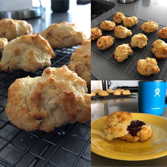 Sometimes when life gives you buttermilk, you make drop biscuits!