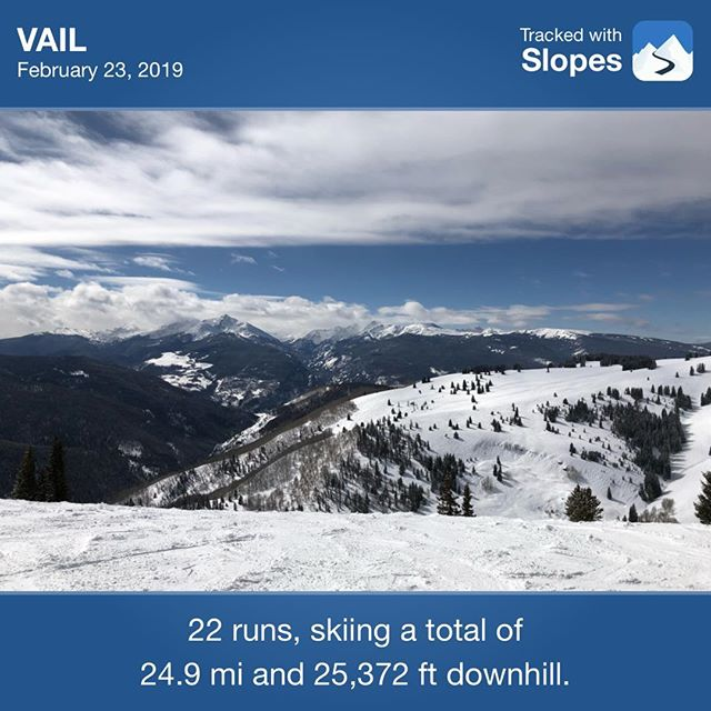 First day skiing at Vail. Not too shabby, huh?