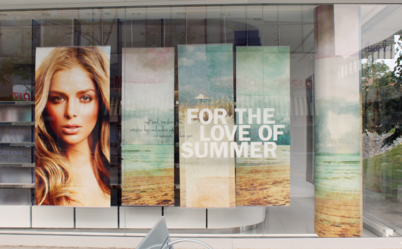Murale Summer 2014 Main Window with Window Posters & Column Wrap