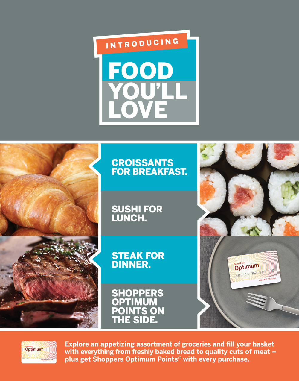 Shoppers Drug Mart Loblaws Food Launch: Tstand 22 x 28