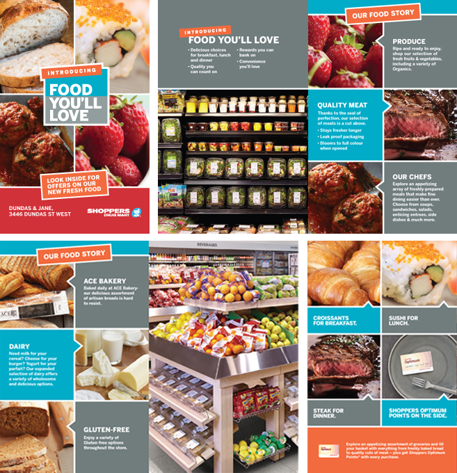 Shoppers Drug Mart Loblaws Food Launch   Bagstuffer: In Progress Select Pages