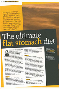 Grazia   'The ultimate flat stomach diet'