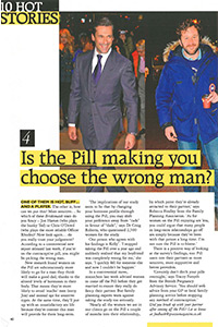 Grazia   'Is the Pill making you choose the wrong man?'