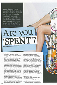 Grazia   'Are you spent?'