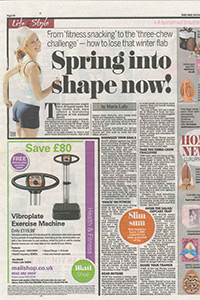 Daily Mail   'Spring into shape now!'