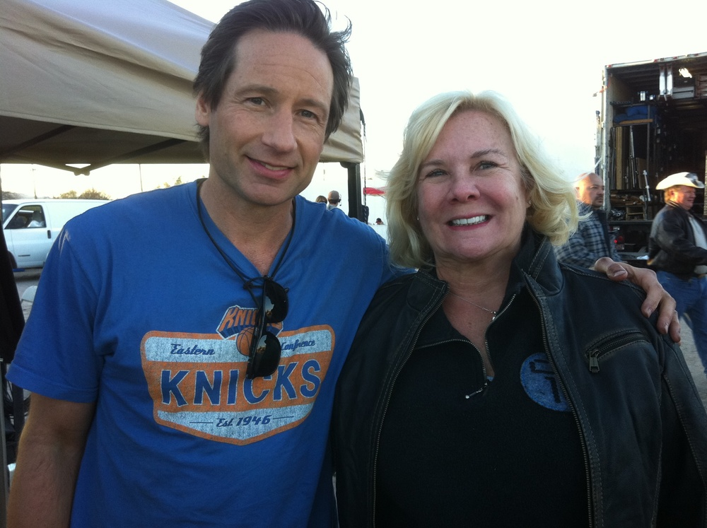 David Duchovny & Anne O'Shea - Set of Goats.JPG