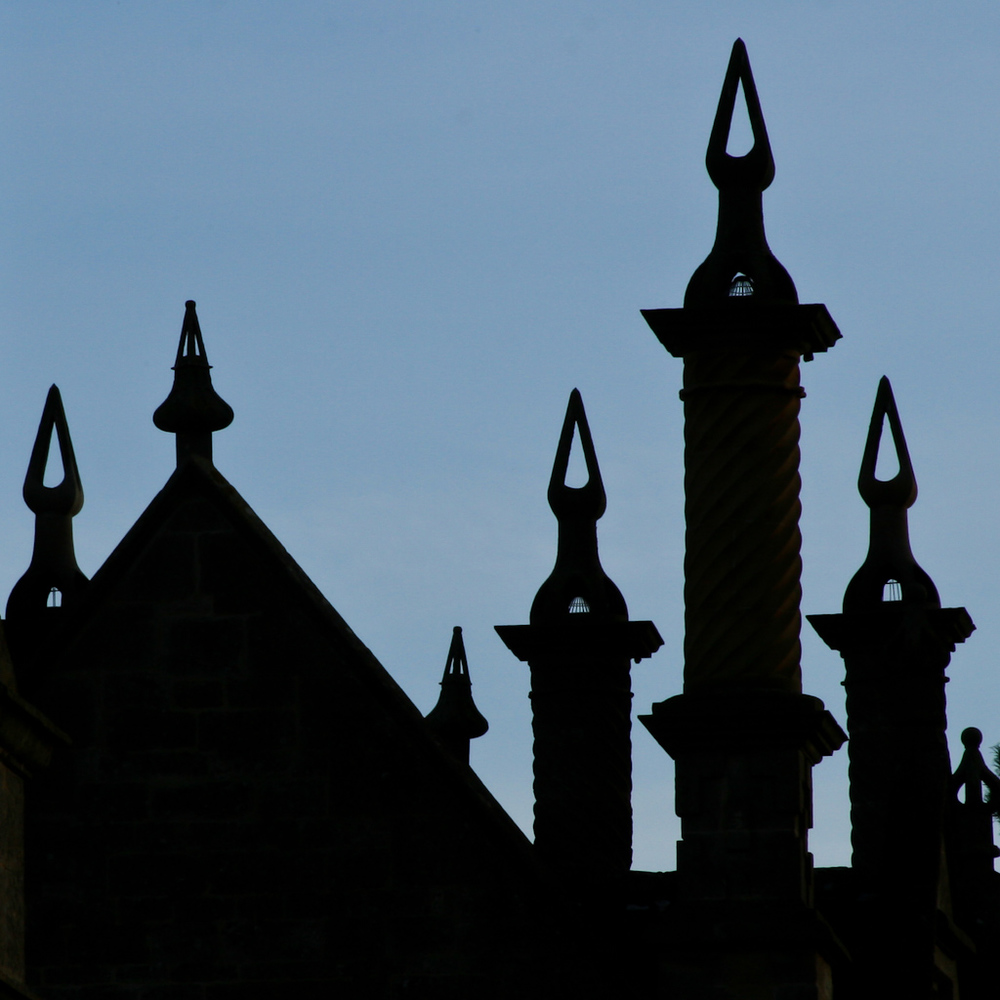 Turrets and chimneys