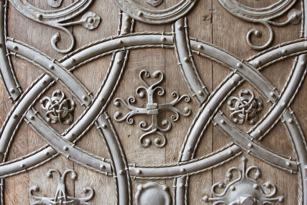Ornate patterns on a door