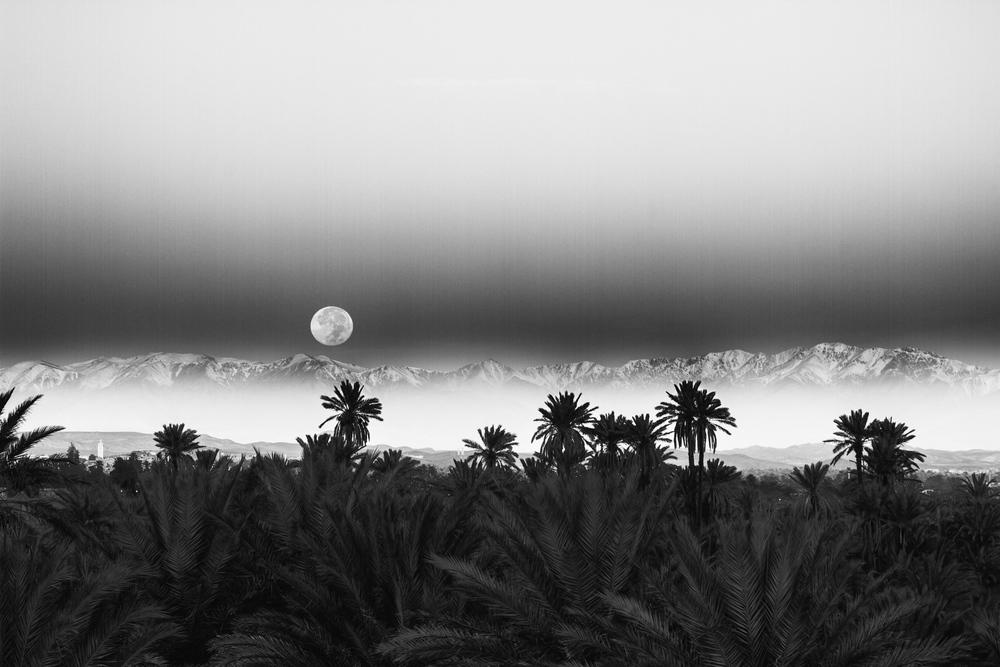 Moonset, Ouarzazate, Morocco
