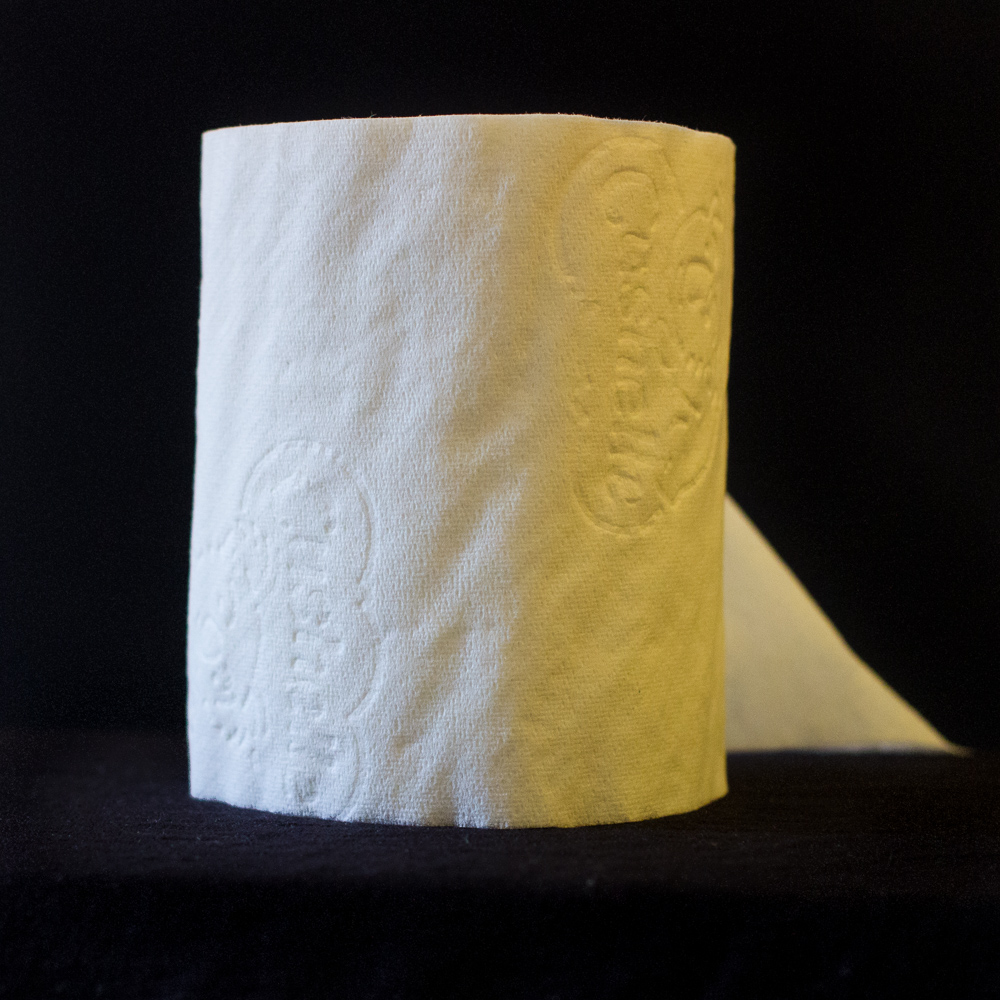 Not the most glamorous subject, but the white loo-roll clearly demonstrates the blueish daylight vs the orange indoor light.