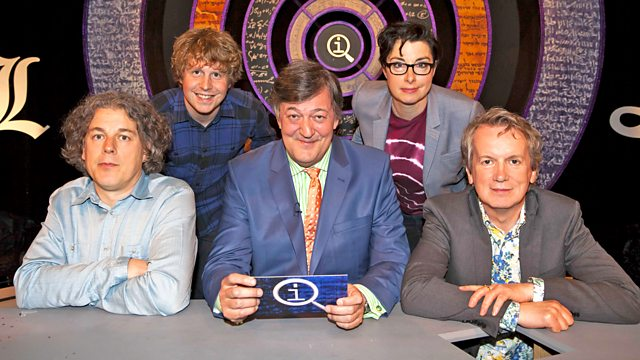 Image borrowed from BBC http://www.bbc.co.uk/programmes/b04n9pqw.  If you've never watched QI, you will be enlightened if you do.  It is quite interesting.