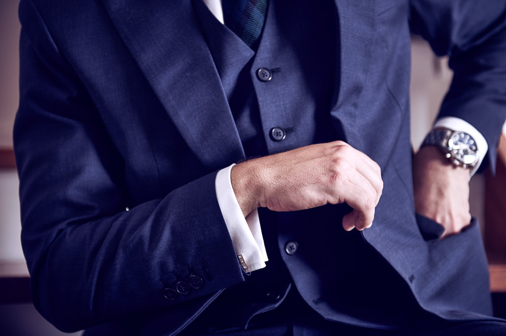 Advertising fashion image shot for a bespoke taylors, specialising in hand made suits