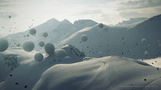 Aerial landscape of alien highlands: Pjusk: Till Nowak