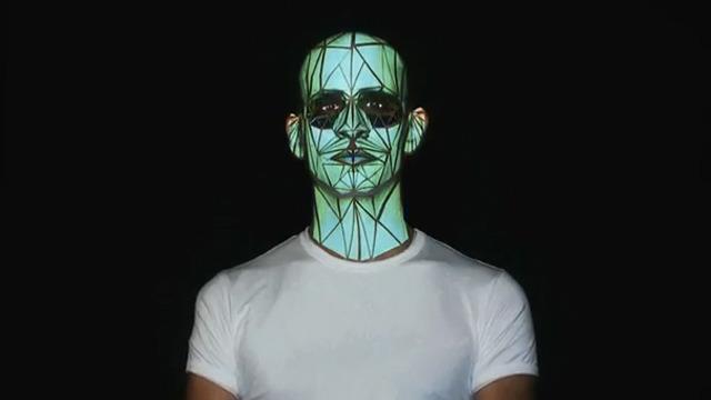 Human Face Projection Mapping: Oskar & Gaspar: Portugal