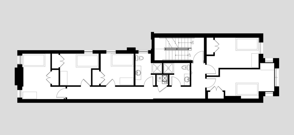 Second & Third Floor Plans