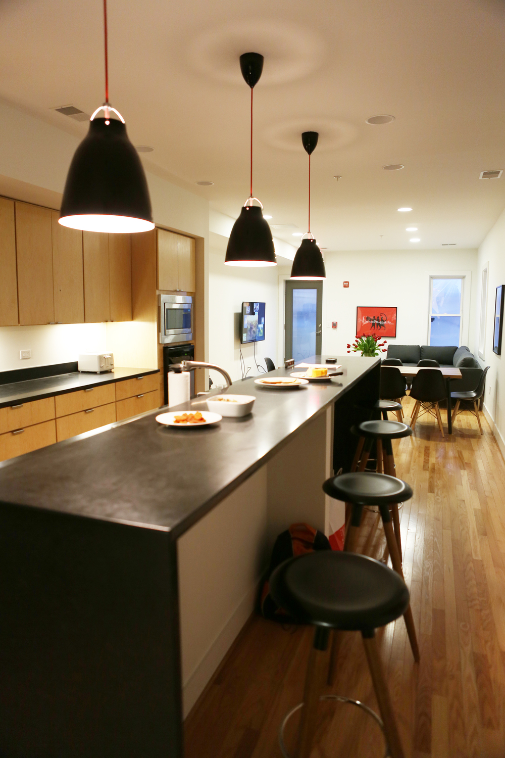View of shared kitchen and breakfast bar