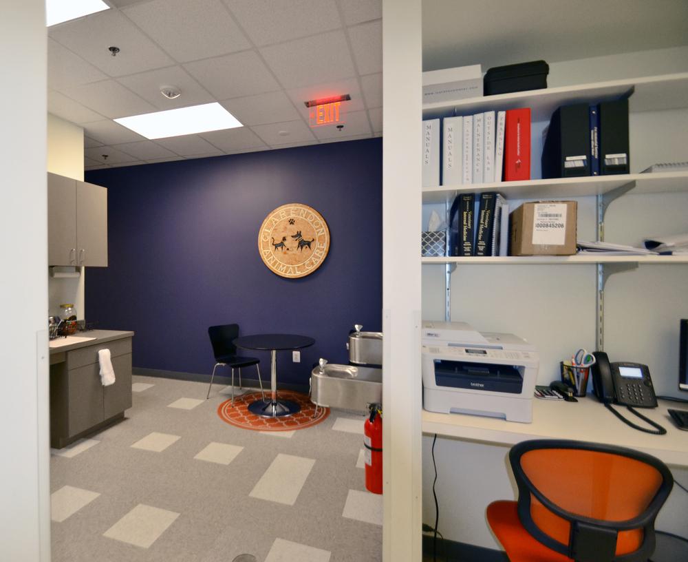 Office nook and break area