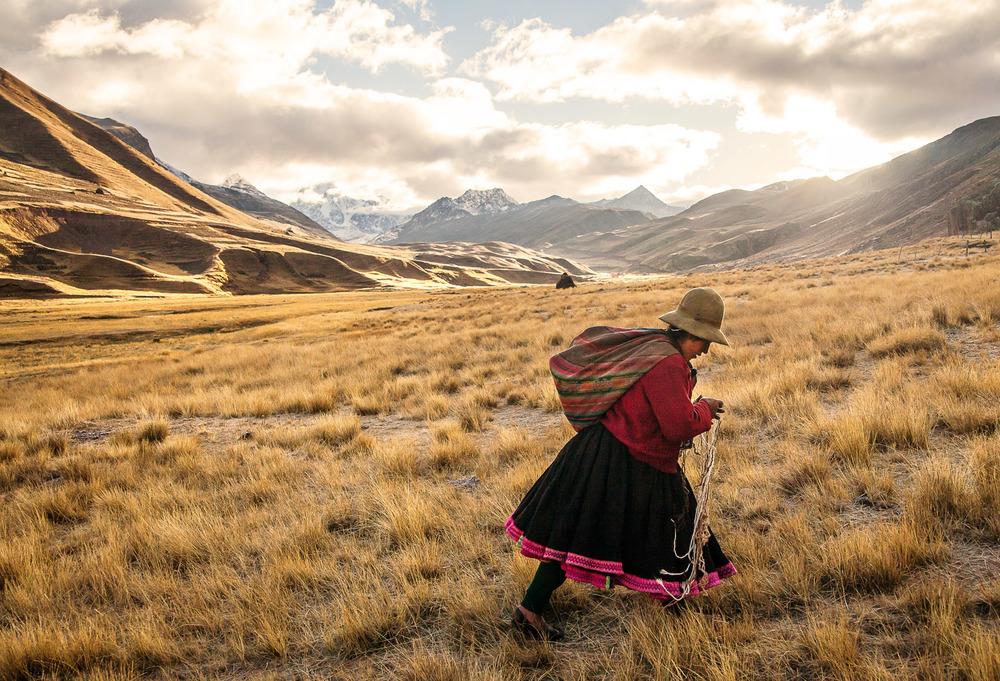 Pastor at Ausangate Valey, Peru