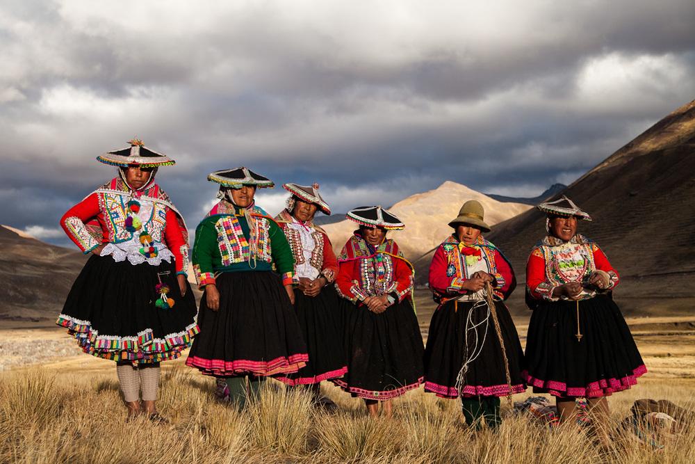 Pastors at Ausangate Valey, The Andes, Peru