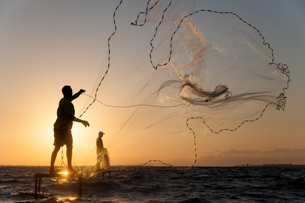 Fishermen at Tapajós River, Pará