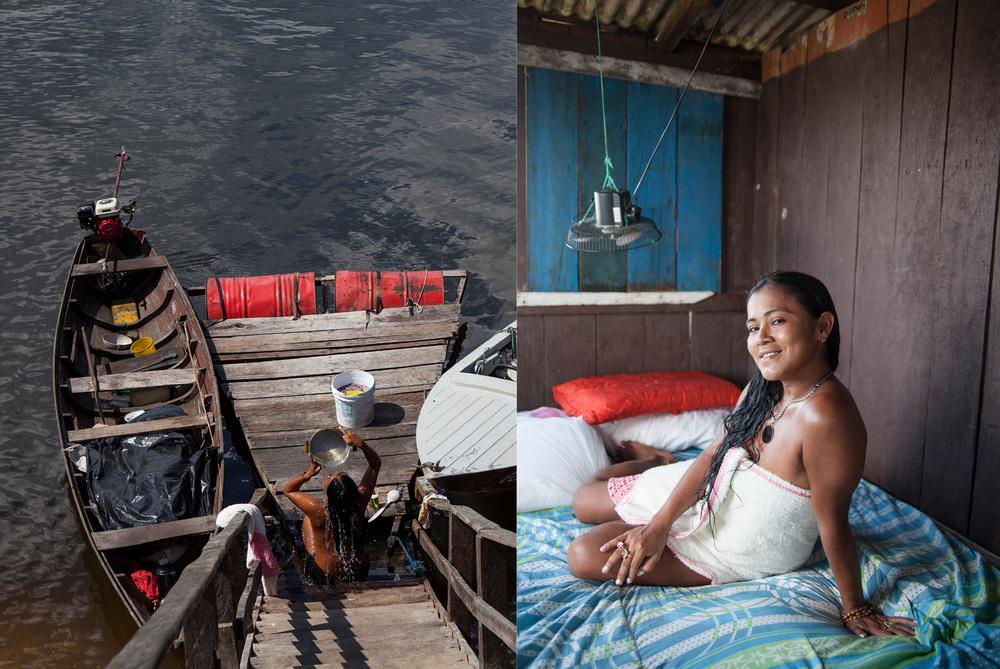 Working Woman at Vila 45 Island, Porto Trombetas