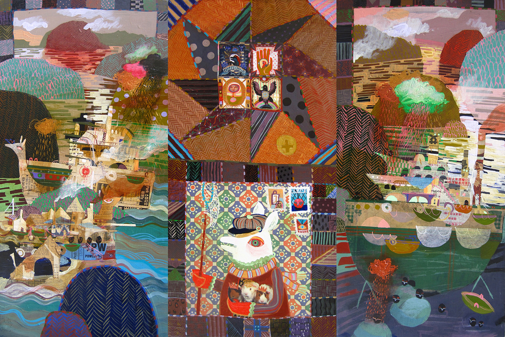 O'Sullivan's Rolling Darkroom (triptych)