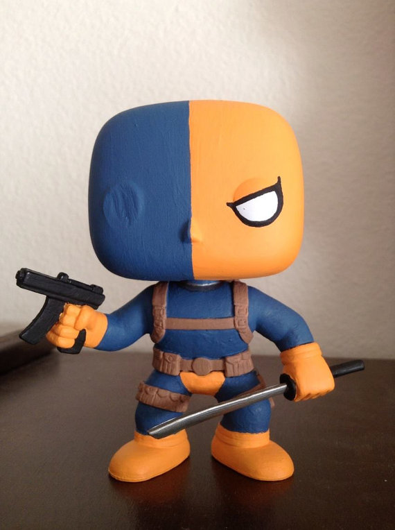 Custom DC Comics Deathstroke Funko Pop vinyl figure bobble-head