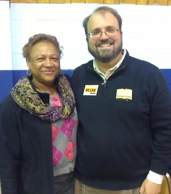 Eric with supporter and Councilwoman Susan Brown Wilson