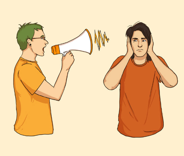 """Megaphone"" original illustration. 2012."