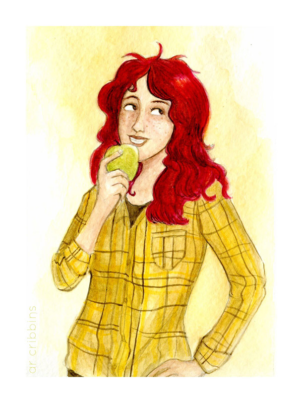 """Apple"" original illustration. 2012."