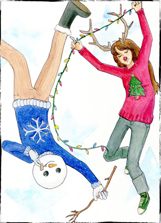 Christmas card design. 2011.